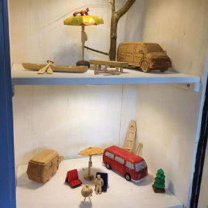 Schnitzwelten, Camping, Modellbau, Holz,